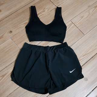 terno sports bra 32-36ab & shorts with cycling 27-30