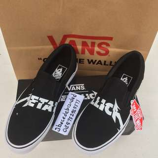 vans x metallica slip on limited edition