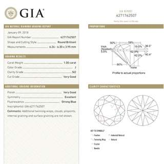 BN 1 Carat Solitaire Diamond Ring (Custom Size) GIA Cert