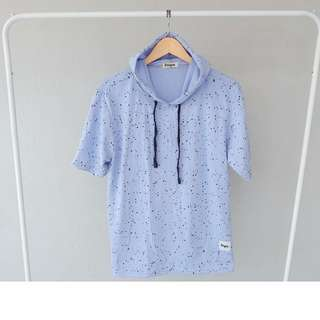 Kaos polos STEIGEN HOODIE YOUNG BLUE SNOW