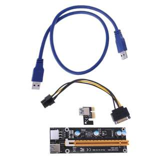 USB 3.0 PCI-E Express 1x Bitcion Mining Extender Riser Card Adapter