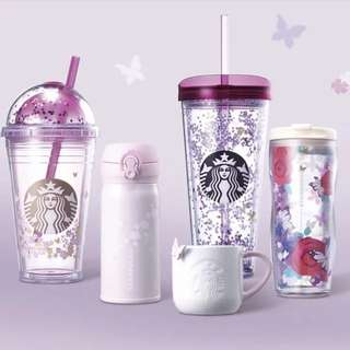 Spring flower dome cold cup 473ml South Korea starbucks