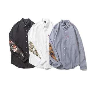 🇯🇵日本潮牌復古民族風拼接恤衫