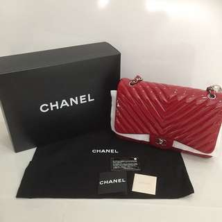 Authentic Preloved Chanel Chevron Flap Bag
