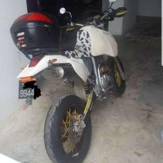 Xr400 motard setup