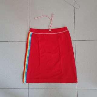 Rok mini miniskirt skirt span spandex hitan