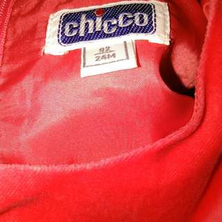 Preloved Chicco Red Orange Dress