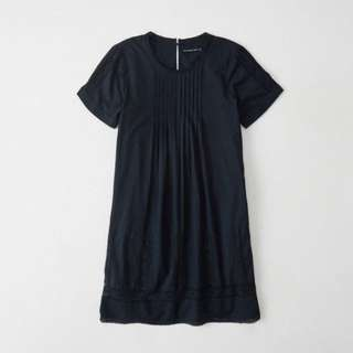 A&F Navy Tee Lace Shift Dress