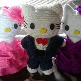 Handmade Hello kitty 100% acrylic yarn