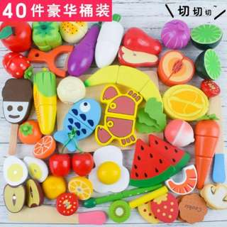 ⚡SPECIAL OFFER⚡BN 40pcs Wooden Magnetic Cutting Foods Set (Assorted)
