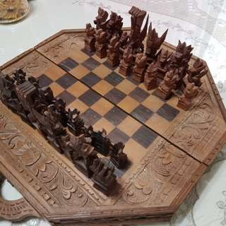 Carved wooden Chess Set