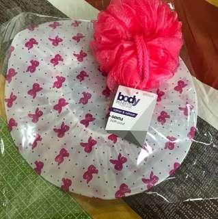 Bath Sponge and Hair cap