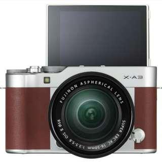 Fujifilm X-A3 Kit 16-50mm Mirrorless Bisa Cicilan Tanpa CC Proses Cepat