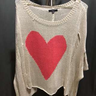 Ripped style sweater