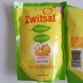 ZWITSAL baby bath milk and honey (refill 450ml)