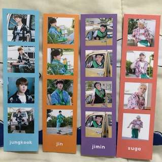 [READYSTOCK] BTS Rainbow Photo Stripe