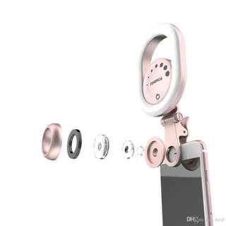手機美顏補光燈鏡頭直播自拍補光燈大圓形補光燈LED瘦臉補光