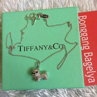 Tiffany Dog Charm Necklace 19""