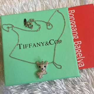"Tiffany Dog Charm Necklace 19"""