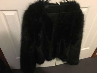 Bettina liano faux fur jacket