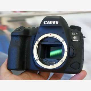 Canon EOS 6D Mark II Body Only Resmi Cash-Kredit Kamera Tanpa CC