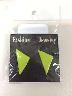 Polymer Retro Triangle Stud Earrings