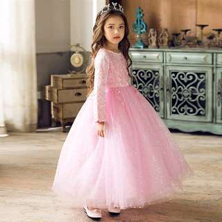 Lovely Flower Girl Long Sleeve dress