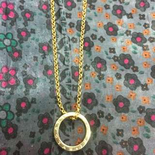 14K Italy Gold Chain with BVLGARI pendant 5.6g