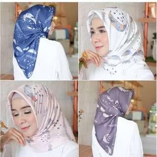 Brand new jilbab segiempat satin silk