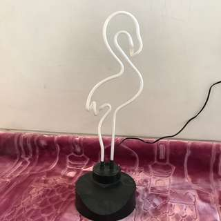 Flamingo neon lamp