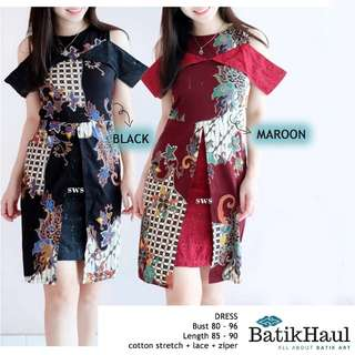 Batik Ethnic Dress Formal Work (type SALLY)
