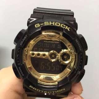 G-shock 黑金錶