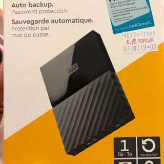 WD 1 Tb Portable Storage