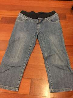9 months 3/4 length maternity jeans
