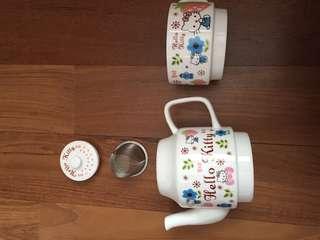 Teapot+Cup(Hello Kitty)