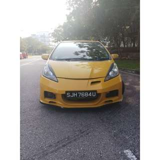HONDA FIT SPORTY LOOK WITH BODYKIT UBER GRAB READY !