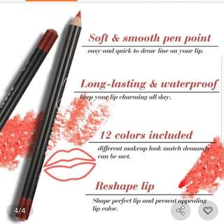 12pcs STAY ALL DAY lip liner pencil