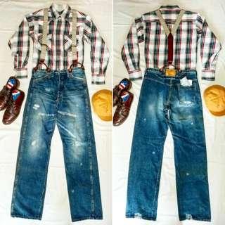 🇯🇵日本製Warehouse Company Duck Digger 1920's Jeans