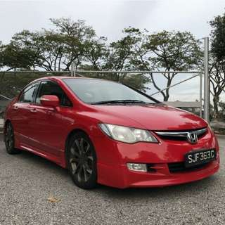 Honda Civic 1.8A Sporty look Uber/Grab Rdy !
