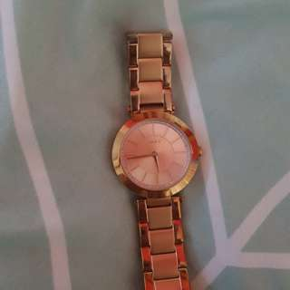DKNY LADIES ROSE GOLD WATCH