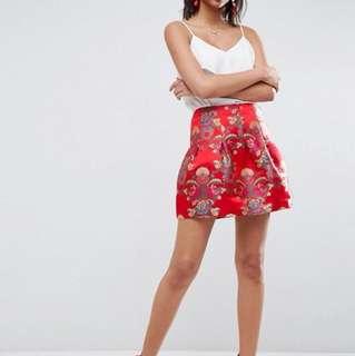 Jacquard Lantern Mini Skirt
