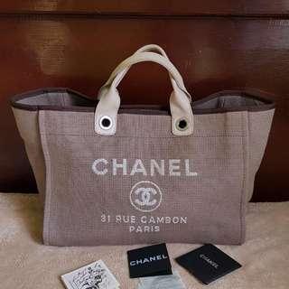 Chanel Canvas Deauville  HandBag