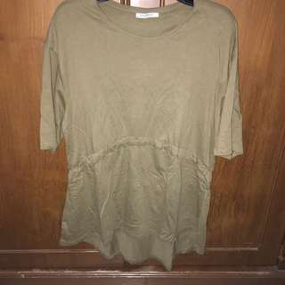 Zara Trafaluc Army Top