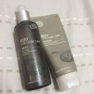 The Face Shop Jeju Volcanic Lava Cleanser, Toner and Face Pack #15Off
