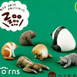 全新免運優惠中!Zoo 休眠動物 第五彈 無尾熊 熊貓 貓咪 柴犬 猴子 樹懶 扭蛋 轉蛋 療癒