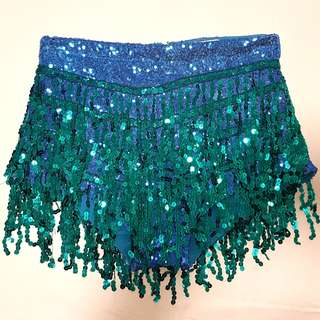 Sequin tassle festival shorts - ELSIE AND FRED