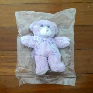 Purple Bear Keychain toy besr plushie furry cute