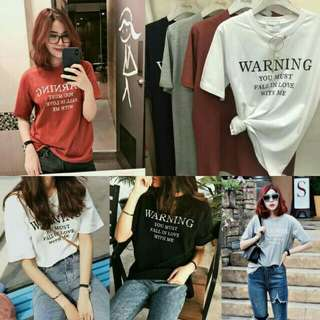Warning T shirt