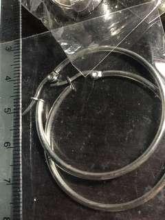 防敏針圈圈耳環