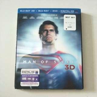 Man of Steel Blu Ray 3D Dvd
